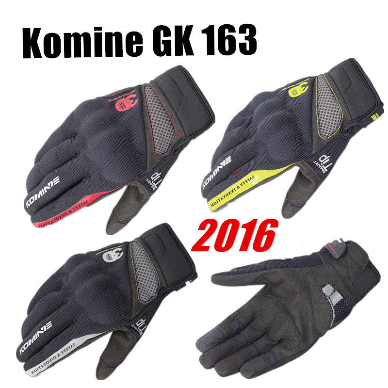 2014 Summer Hot Komine GK 163 <font><b>MOTO</b></font> Motorcycle <font><b>Gloves</b></font> Top <font><b>Leather</b></font> Fashion Motocross Motorbike Guantes Urban Riders Luvas image