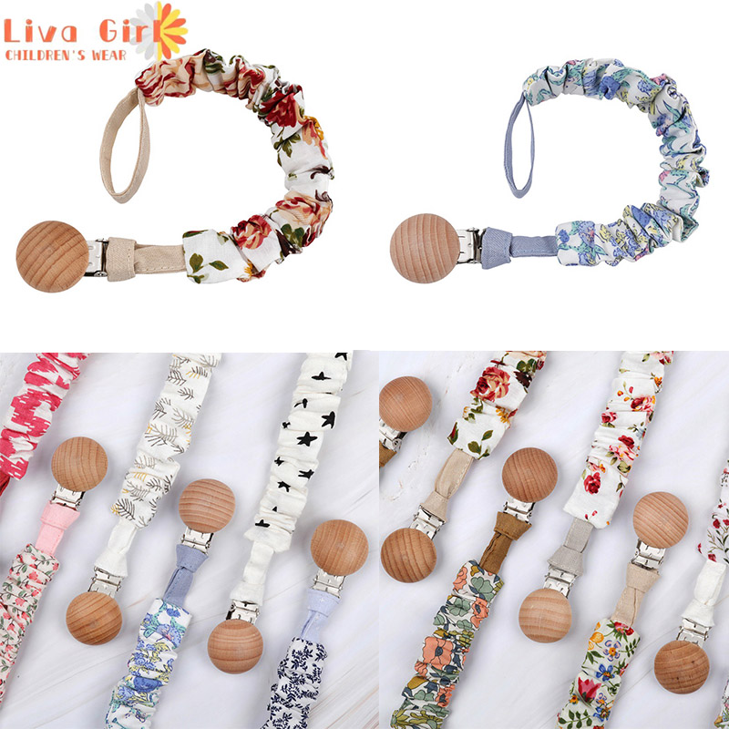 Dropship Baby Pacifiers Leashes Appease Vintage Simple Cotton Newborn Nipples Clip Chain Holder Leash Toddler Infant Chains Clip