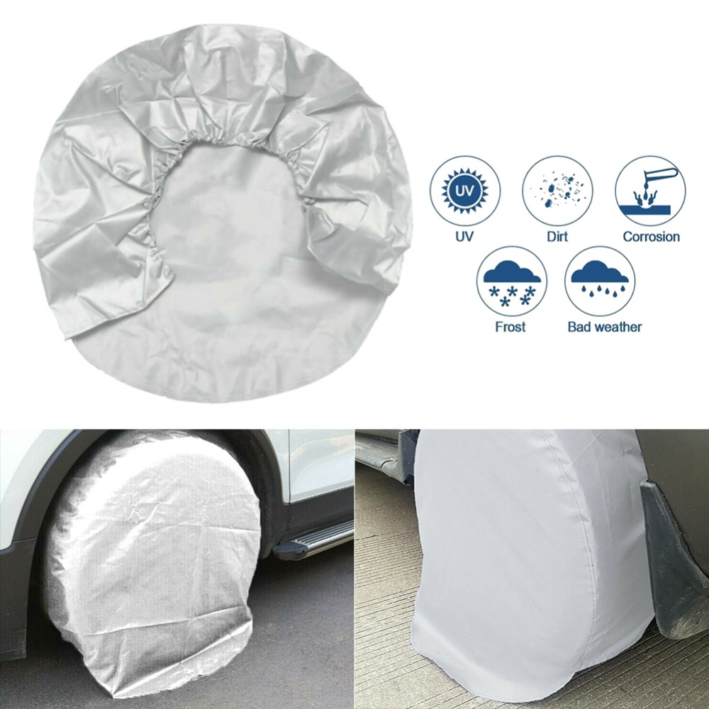 rueda de cami/ón protecci/ón solar Funda protectora para rueda de repuesto resistente al agua funda protectora para neum/áticos RV remolque funda ligera para SUV