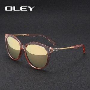 Image 3 - OLEY Thương Hiệu Vòng Kính Mát Nữ Phân Cực Nữ Thời Trang Kính Mắt Chống Nắng Nữ Vintage Sắc Thái Oculos de Sol Feminino UV400 Y7405