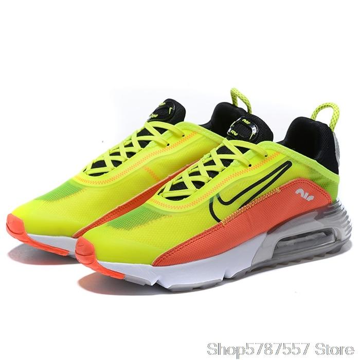 administración combinar Peave  Nike Air Max Vapormax 2090 mesh yarn zapatos para hombre fluorescente verde  naranja talla 40 45 Zapatillas de correr  - AliExpress