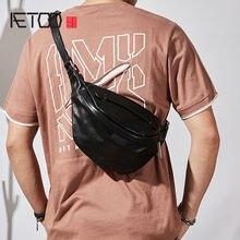 Мужская нагрудная сумка aetoo простая мессенджер из первого