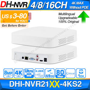 Dahua 4K NVR Video-Recorder H265 Ip-Camera-System NVR2104-4KS2 8/16CH Network Original