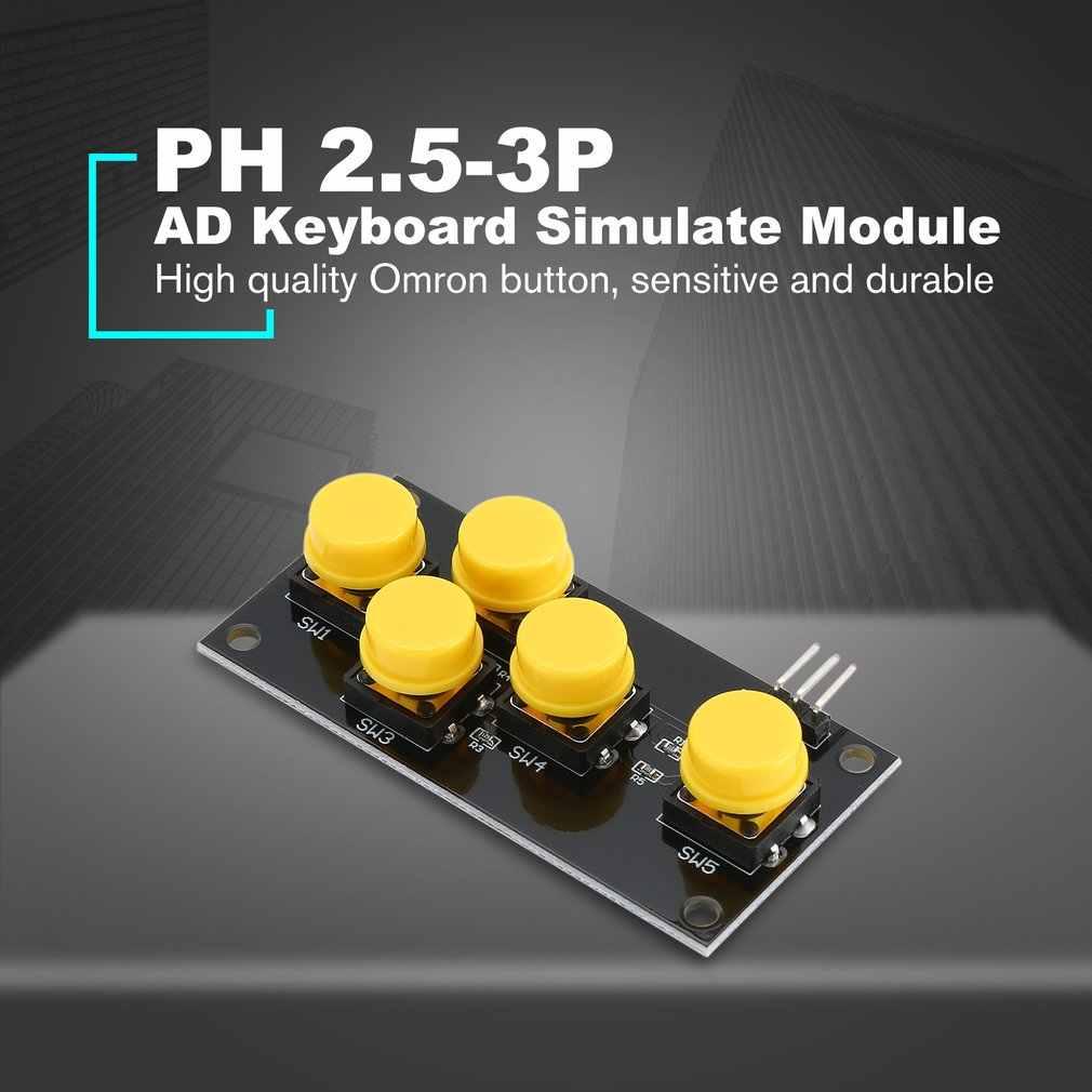 AD clavier simuler Module jeu cinq Module clé bouton analogique pour arduino capteur clavier carte d'extension