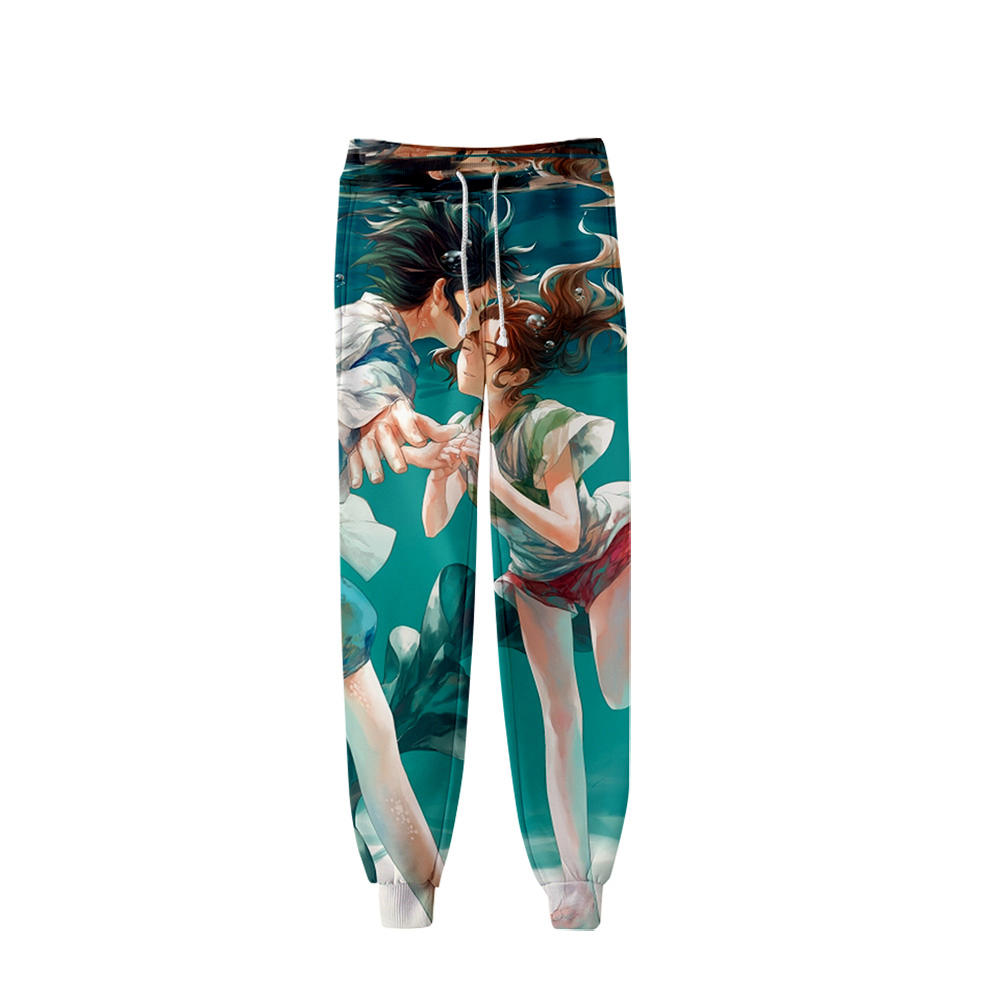 Frdum Tommy Animated Film Film Spirited Away 3D Pants High Quality Sports Trousers Popular Trend Comfortable Casual Pants