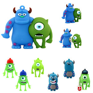 Smile Cow USB Monster University Flash Drive Cartoon Mini Cute Memory Stick Pen drive 4GB 8GB 16 32 64 128 256 gb USB Disk Gift