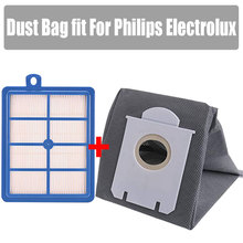 Washable 1pcs H12 H13 dust hepa filter + 1pcs High Quality Vacuum Cleaner Bags Dust Bag fit For Philips Electrolux cheap Vacuum Cleaner Parts