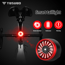 TOSUOD bicycle tail light waterproof usb charging mountain bike lamp intelligent sensing equipment accessories