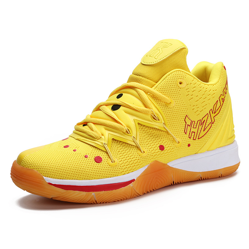 New Men's Basketball Shoes Training Sneakers Men Shoe Zapatillas Hombre Deportiva Ankle Boots Spongebob Squarepants Plus Size 46