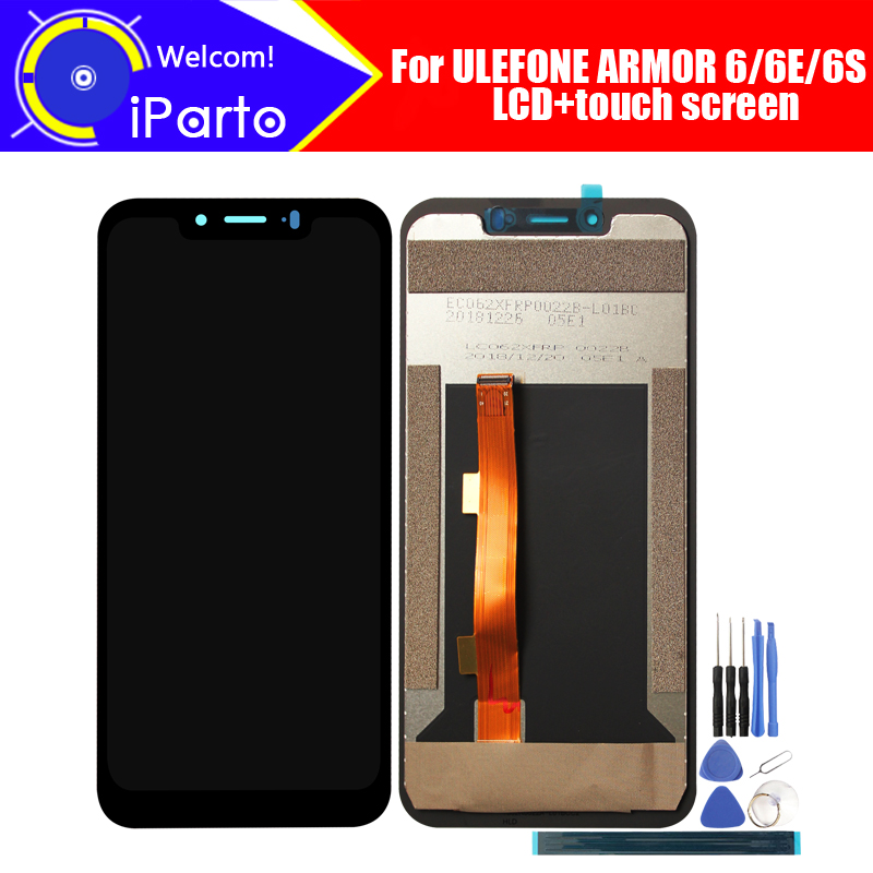 6.2 inch ULEFONE ARMOR 6 LCD Display+Touch Screen Digitizer Assembly 100% Original New LCD+Touch Digitizer for ARMOR 6E/6S+Tools(China)