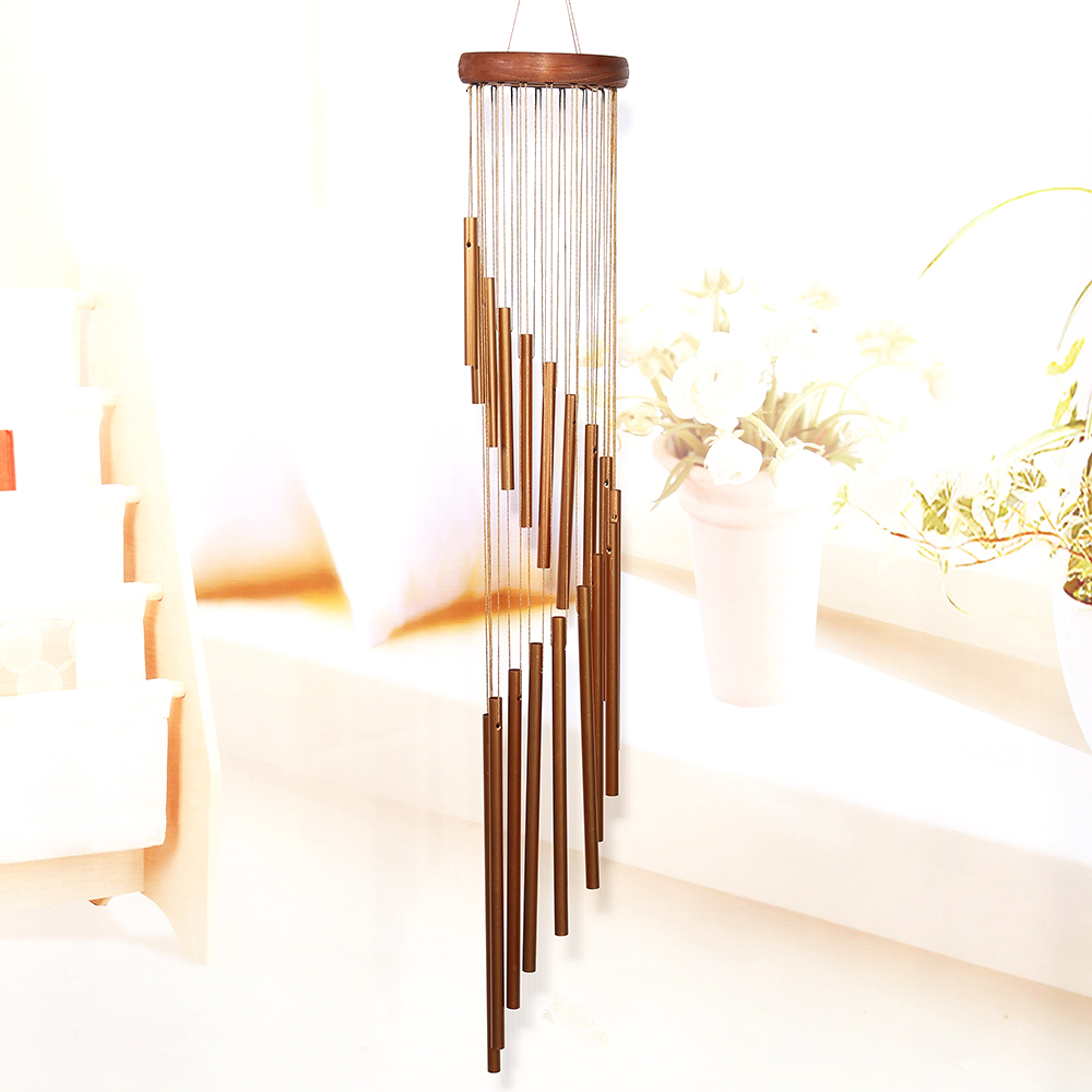 Wind Chime 90cm Large Deep 18 Tubes  Windchime Chapel Wind Bells Wind Chimes Door Hanging Patio Outdoor Hanging Decor