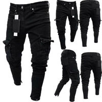 Long Pencil Pants Ripped Jeans Slim 1