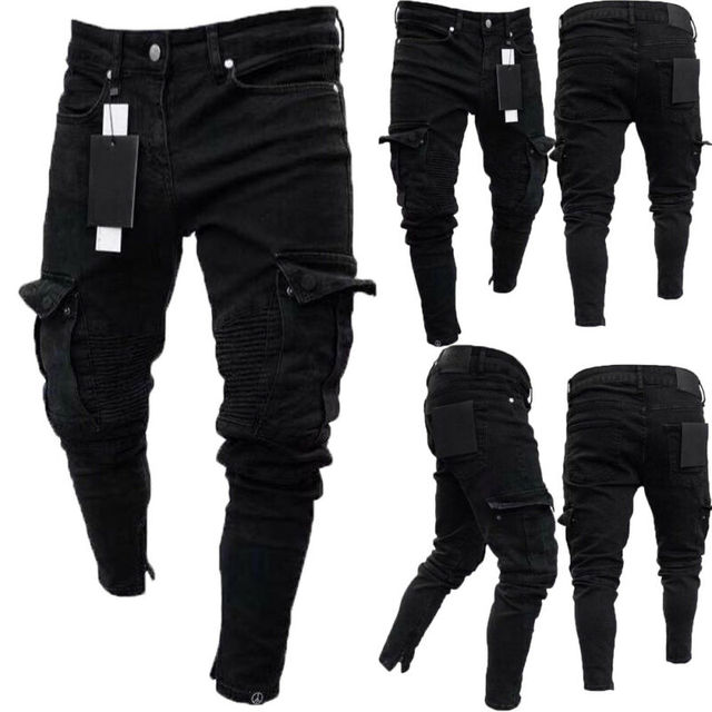 Long Pencil Pants Ripped Jeans Slim 4