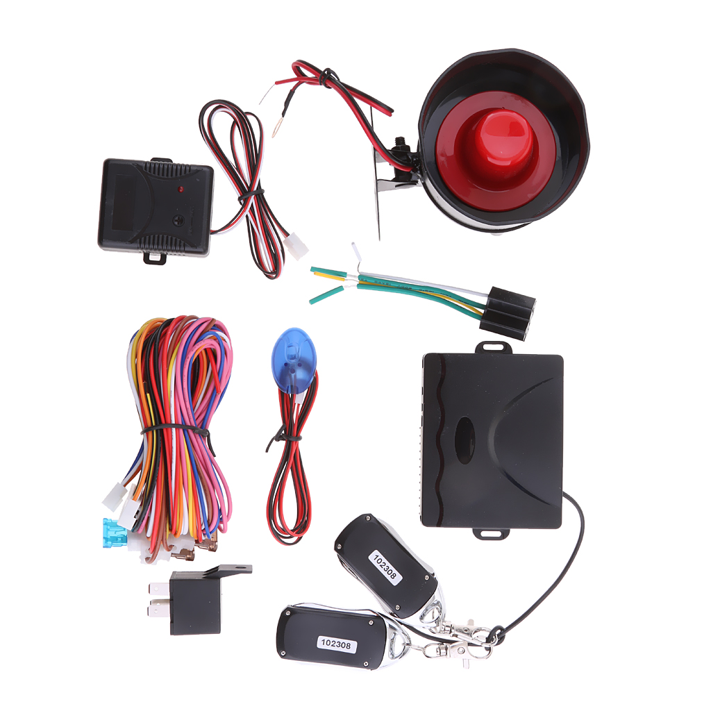 Universal Car 1 Way Alarm Security System Remote Central Lock Kit Anti-theft