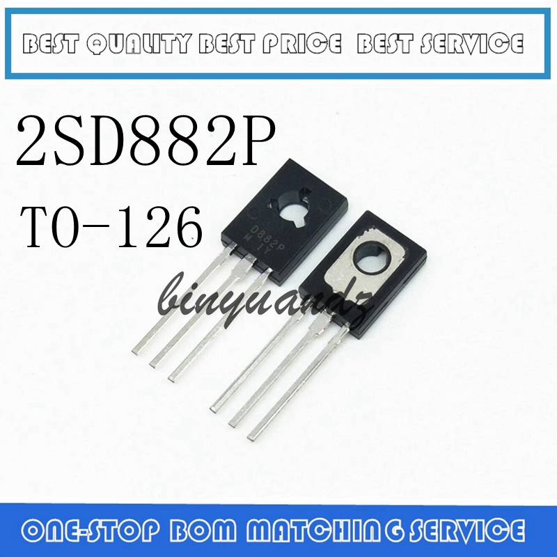 20PCS 2SD882P D882P D882 TO-126 Amplifier For 3A 40V PNP New