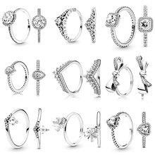 Cuteeco venda quente charme moda coroa princesa desejo osso dedo anéis arco-nó anel de indicação para jóias de casamento feminino atacado