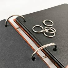 10 unids/set anillo circular de bronce Vintage para álbum de recortes de hojas sueltas, álbum de fotos, hebilla de tarjeta, anillo de presión, álbum circular de hierro vinculante