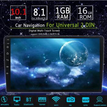 10.1 Inch 2 Din Android 8.1 Car MP5 Player 1+16G IPS 2.5D Touch Screen Stereo Radio GPS WIFI FM Multimedia MP4 MP5 Player image