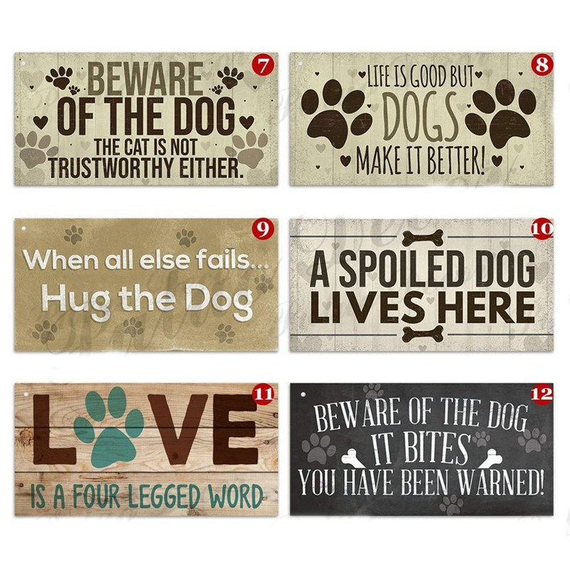 In Dog Beers Only Had One Funny Pub Bar Man Cave Hanging Plaque Alcohol Sign A Spoiled Dog Lives Here Hanging Plaque(China)