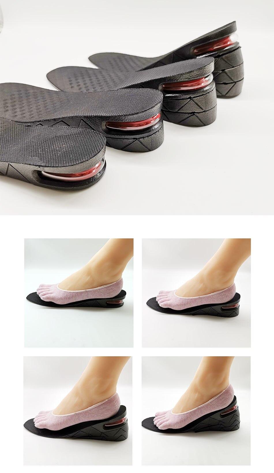 palmilha para aumento de altura  com um pé de uma mulher calçada meia em cima - the best acessórios