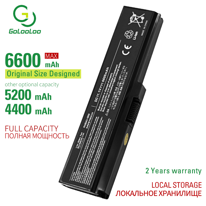 Golooloo 6 Cells Laptop Battery For Toshiba Satellite L645D L650 L650D L655 L655D L670 L670D L675 L675D M300 M305 M500 M505 M640