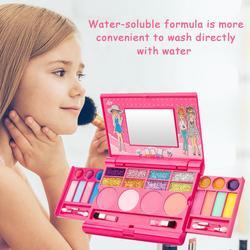 Crianças maquiagem cosméticos jogar caixa jogo conjunto princesa maquiagem menina brinquedo batom sombra de olho segurança não-tóxico brinquedos kit para crianças