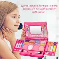 Maquillage pour enfants cosmétiques boîte à jouer jeu ensemble princesse maquillage fille jouet rouge à lèvres ombre à paupières sécurité Non toxique jouets Kit pour enfants