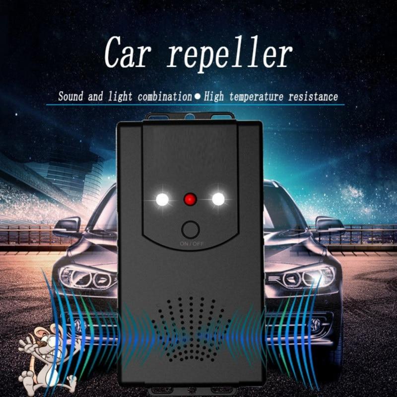 Car Under Hood Animal Pest Repeller Vehicle Rodent Repellent Ultrasonic Rat Deterrent Automobile With LED Strobe Lights