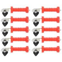 10Pcs Insulated Spring Gate Handles With 10pcs Insulators For Electric Fence Door Hardware Accessories Domestic Delivery 10pcs rjp30h1 to220f