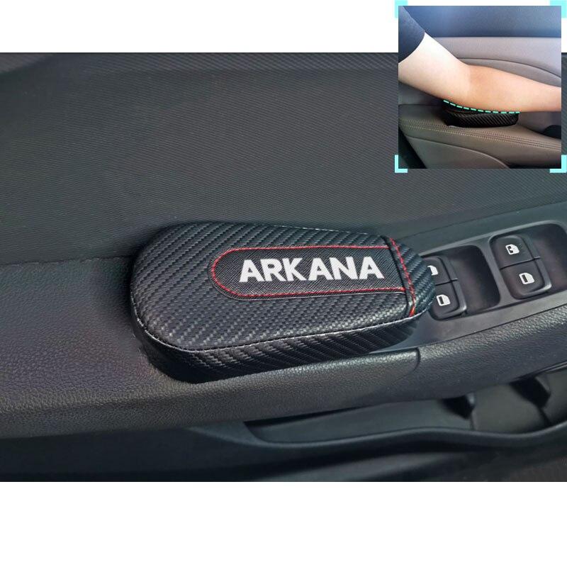 Coussinet d'accoudoir en cuir | Pour Renault Arkana 1 pièce, en Fiber de carbone, coussin pour les jambes, genouillère, accessoires intérieur de voiture