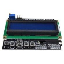 1 adet Lcd tuş takımı Shield Lcd1602 Lcd 1602 modülü ekran Arduino için Atmega328 Atmega2560 ahududu Pi Uno mavi ekran Wavgat