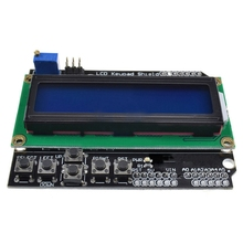 1Pcs Lcd Keypad Shield Lcd1602 Lcd 1602 Module Display For Arduino Atmega328 Atmega2560 Raspberry Pi Uno Blue Screen Wavgat