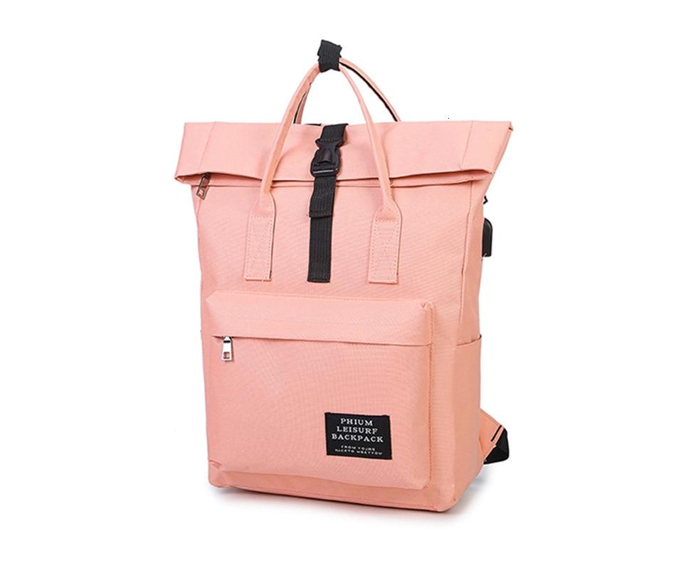 H3d87673bd941471da22b3089016cec447 TTOU Women External USB Charge Backpack Canvas School Backpack Mochila Escolar Girls Laptop Backpack