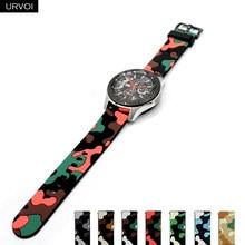 URVOI silikon band für Galaxy Uhr Aktive 2 camouflage strap für HUAWEI uhr GT 2 quick release pin ersatz 20 22mm