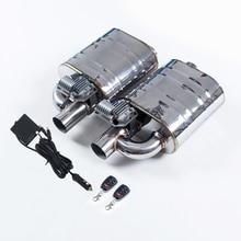 Двойной глушитель клапана Электрический глушитель выхлопной трубы 1 вход в 1 выход глушитель дистанционного управления