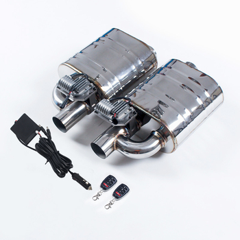Double Valve Muffler Electric Exhaust Silencer 1 Inlet To 1 Outlet Muffler Remote Control