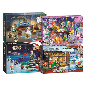 New Friends Advent Calendar Star Warsing City Building Block Bricks Christmas Gift With Compatible 75213 41353 60235 Toys