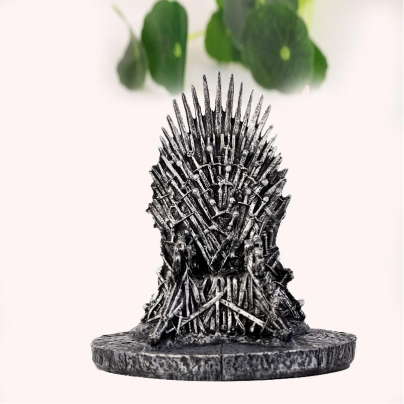18 CM The Iron Throne Model Figure GAME OF THRONES Resin Process Gift Song Of Ice And Fire Sword Chair Iron Throne Desk image