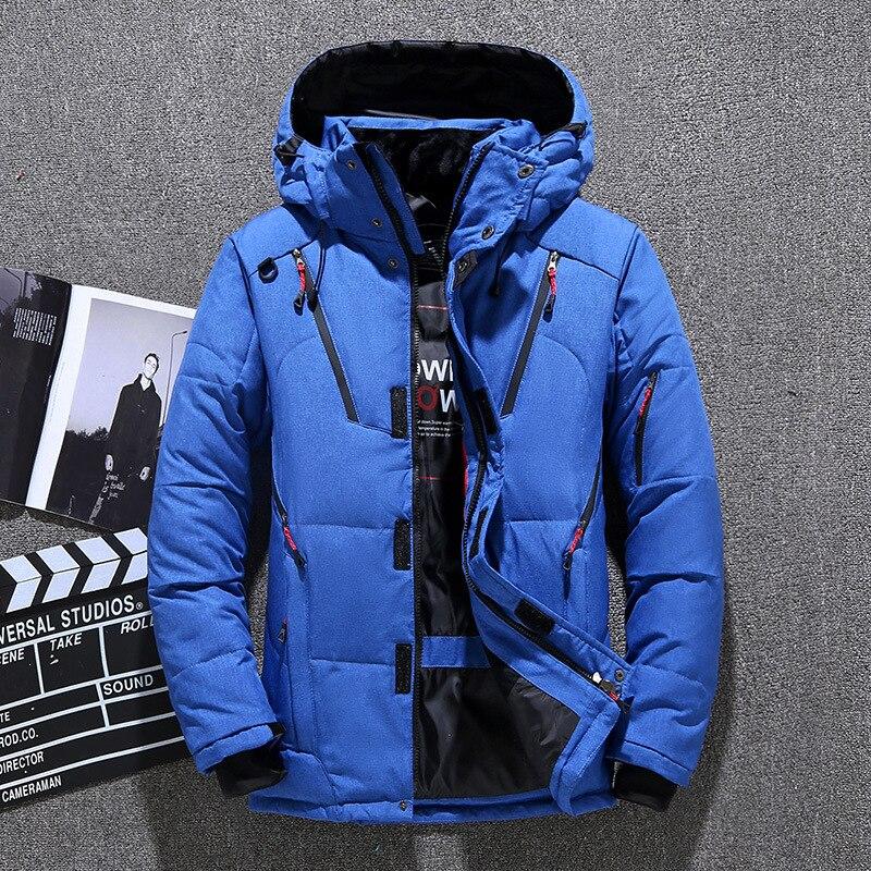 2019 haute qualité 90% blanc canard doudoune hommes manteau Snow parkas mâle chaud marque vêtements hiver vers le bas veste d'extérieur
