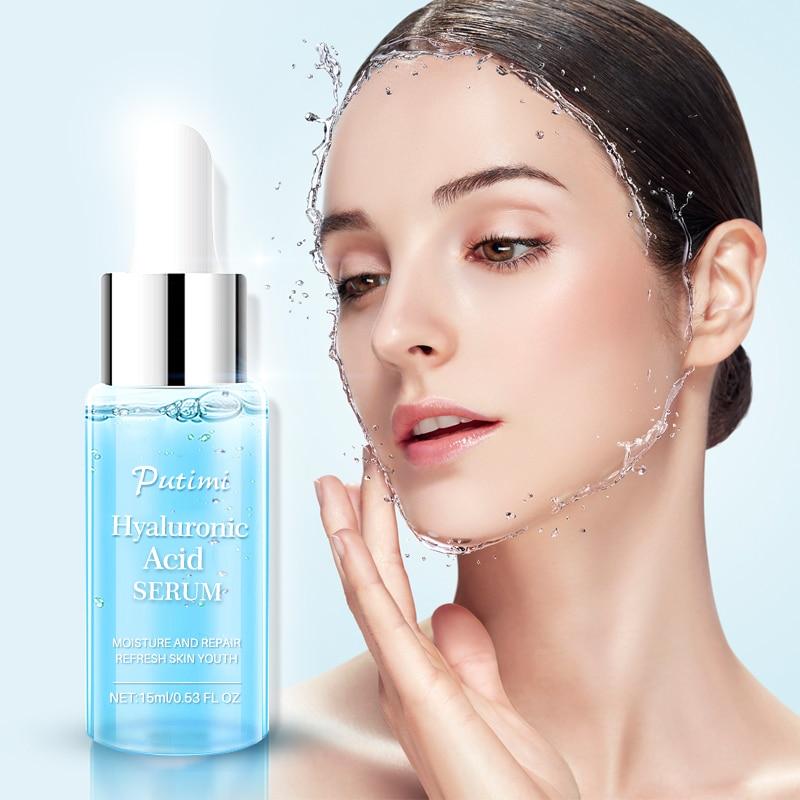 PUTIMI Hyaluronic Acid Essence Face Serum Anti Wrinkle Anti Aging Whitening Moisturizing Face Cream Nourishing Shrink Pores