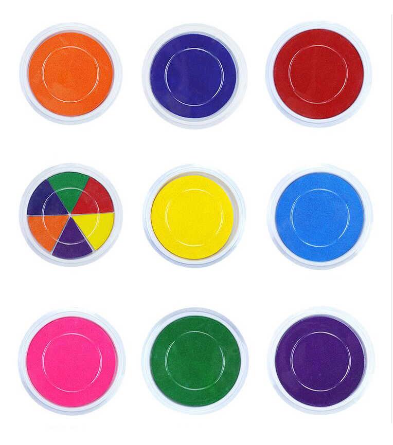 Divertente 6 Colori Tampone di Inchiostro Timbro FAI DA TE Pittura con le Dita Craft Candele Per I Bambini Disegno Montessori giocattoli per bambini 0-12 mesi Giocattolo Per Bambini GYH