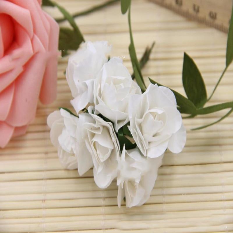 2 см Diam маленькая бумажная Роза искусственный цветок для свадьбы Праздничное оформление одежда ручной работы коробка для обуви аксессуары