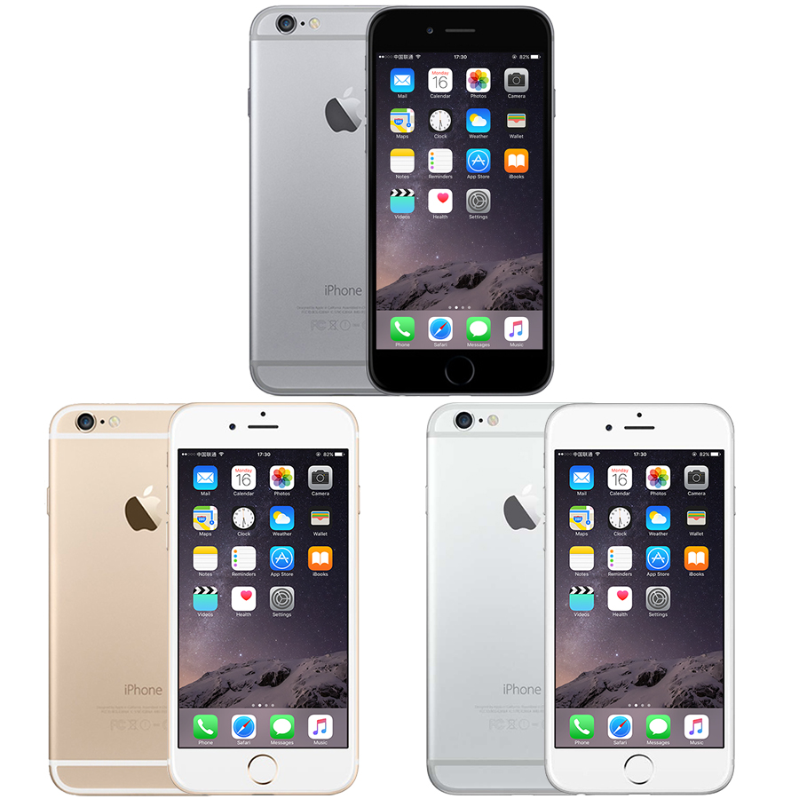 Used Unlocked Apple IPhone 6 6 1GB RAM 16/64/128GB ROM IOS Dual Core 4.7 Inch IPS 4G LTE IOS Mobile Phone
