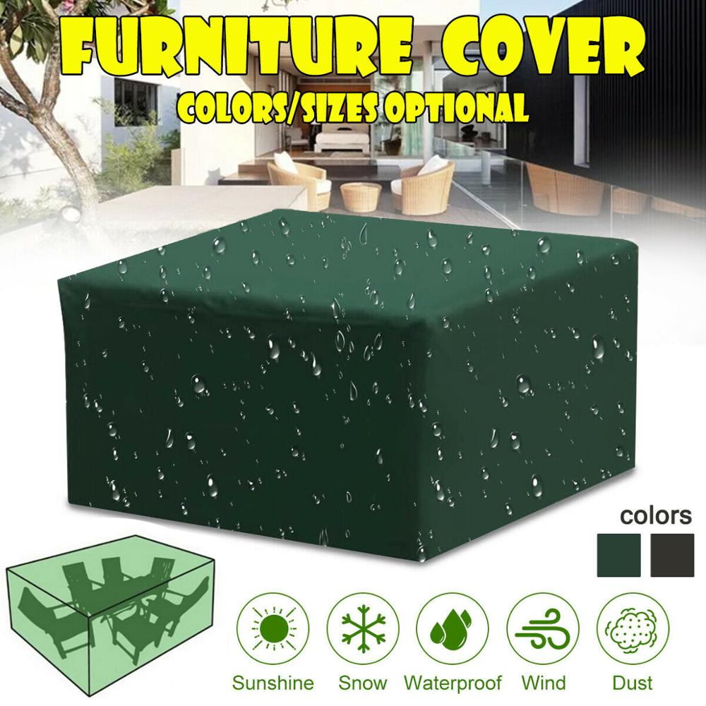 16 Size Waterproof Outdoor Garden Furniture Covers Chair Covers For Patio Table Chair Dust Proof Cover For Outdoor Furniture