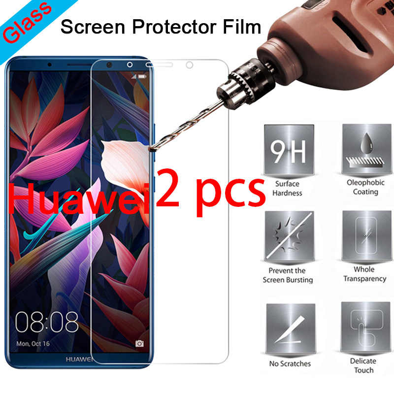 2 PCS! 9H Toughed Tempered Glass for Huawei Y9 Y7 Pro Y6 Prime Protective Film Hard Screen Protector on Huawei Y5 Prime Y3