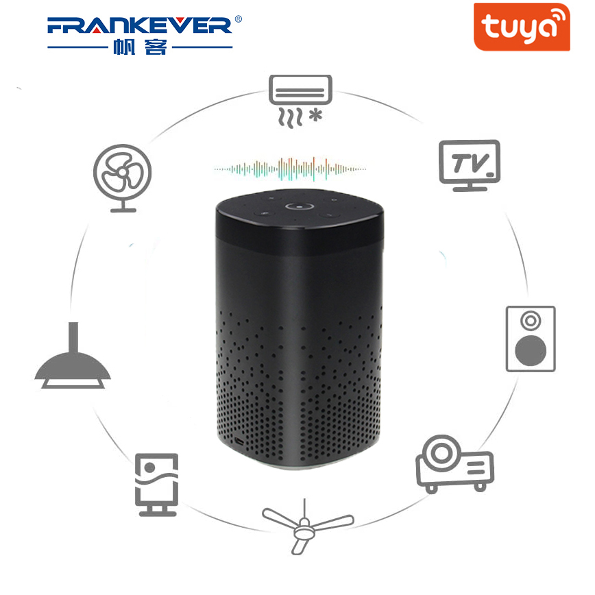 FrankEver Smart Voice Control Hub Speaker IR Remote Control 2.4G WiFi IR DIY Tuya Zigbee 3.0 Bluetooth 4.2 Wireless Speaker