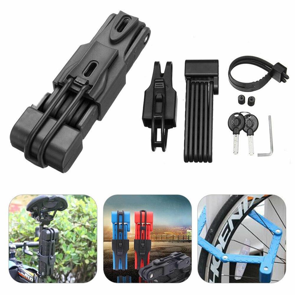 Car Lock Anti-Theft Mountain Bike Lock Folding Lock Joint Anti-Hydraulic Shears Electric Lock Bicycle Accessories