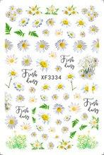 Margarida florais unhas arte manicure volta cola decalque decorações design etiqueta do prego para unhas dicas beleza