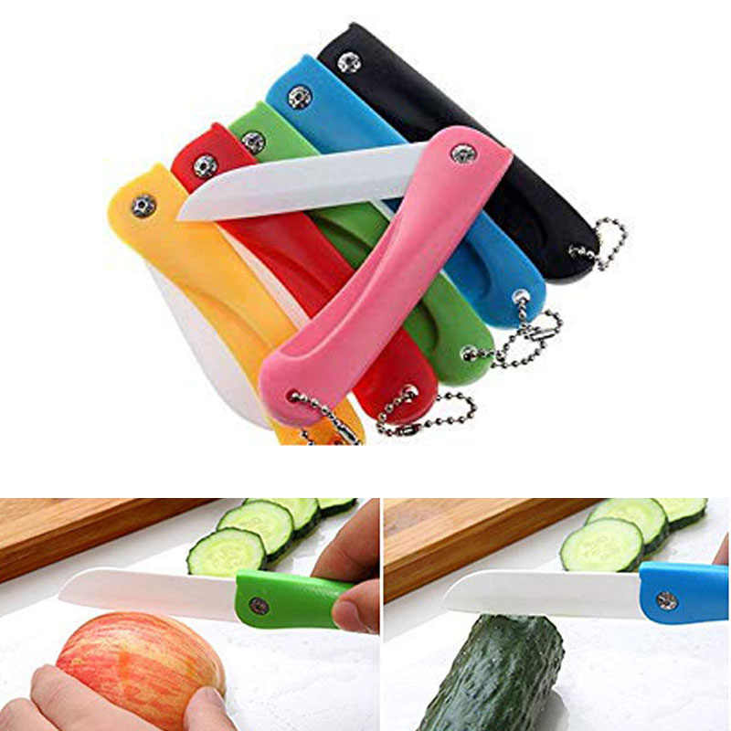 Cutlery Cutter Pare Peel Fold Cut Slice Blade Ceramic Pocket Knife Lunch Bird Picnic Peeler box bag Vegetable Kitchen Mini Fruit