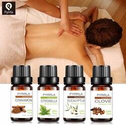 Pyrrla 10ml Pure Essential Oils Eucalyptus Bergamot Clove Chamomile Massage Humidifier Diffuser Aromatherapy Essential Oil